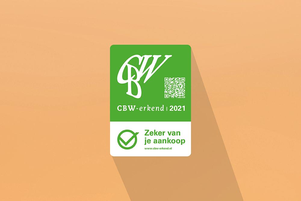 CBW-erkend | winkelruitsticker